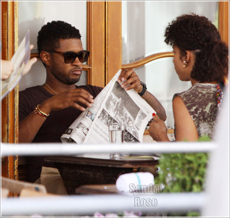 who is usher dating now 2012