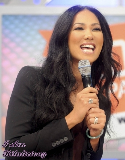 Kimora Lee Simmons was seen kidding it on BET's 106 and park yesterday.